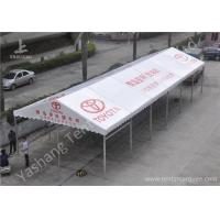 Wholesale 6M Width Outdoor Sunblock Hard Pressed Extruded Aluminum Car Exhibition Canopy in White from china suppliers