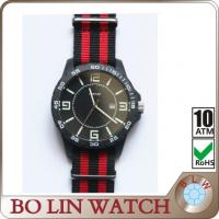 Wholesale Nylon Strap Two Tone Watches , Japanese Movement Carbon Fiber Dial Watch from china suppliers