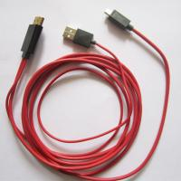Wholesale Android Cell Phone Tablet HD Audio Video Cable , HDMI HDTV Cable Adapter 2 Meter from china suppliers
