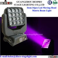 Wholesale Sound Activated LED Matrix Beam Moving Head Disco Light AC 110V - 260V from china suppliers