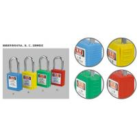 Quality ABS 20 padlock Keyed Different Nylon Shackle Safety Padlock for sale