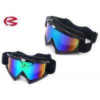 Wholesale Glossy Black Windproof Revo Lens Motorcycle Riding Goggles Triple Layer Foam Padding from china suppliers