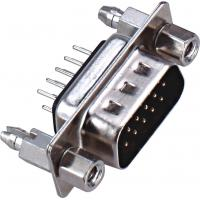 Wholesale D - SUB Dual Row 9 Pin Male Connector 180°DIP PBT Type Brass 3.0AMP Current Rating ROHS from china suppliers