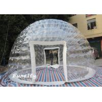 Wholesale Family PVC Inflatable Dome Bubble Tent Customized 3 - 6m Diameter from china suppliers