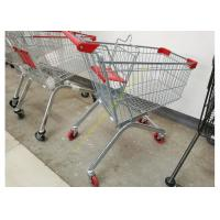 Wholesale Removable Wheeled Supermarket Shopping Cart / Steel Wire Carts With PVC Wheels from china suppliers