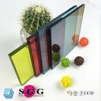 Wholesale 6.38mm 8.38mm 10.38mm 12.38mm reflective color blue bronze grey green clear laminated glas from china suppliers