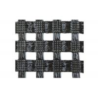 Wholesale High Tensile Strength Geogrid for Bridge / Warp Knitting Black Geogrid from china suppliers