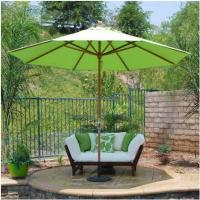 Wholesale 12FT 3' Wood Double Pulley Wood Patio Umbrella , Patio Market Umbrella from china suppliers