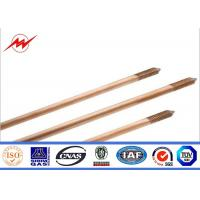 Wholesale CE UL467 Custom Copper Ground Rod Good Conductivity Used In The Grounding Device from china suppliers
