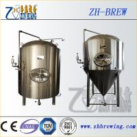 Wholesale Stainless steel beer conical fermente, fermentation tank and jacket fermenter for beer plant and factory from china suppliers