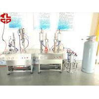 Wholesale Pneumatic Semi Automatic Aerosol Filling Machine Mousse Aerosol Spray Fillers from china suppliers