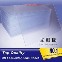Wholesale Rigid line lenticular sheet 20LPI  material 3mm Thickness Plastic Lenticular plate thick lenticular material from china suppliers
