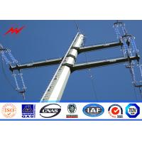 Quality 10M galvanized steel Electrical Power Pole for transmission 69KV line for sale