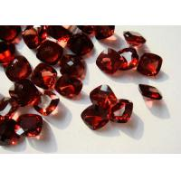 Wholesale Cushion Rhodolite Garnet Gemstones Red With Normal Facted Cut from china suppliers
