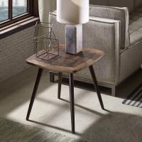 Wholesale Authentic Solid Reclaimed Wood End Table With Subtle Distress Marks from china suppliers