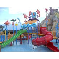 Wholesale Comfortable Safe Aqua Park Design With Stainless Steel Fastener / Fiberglass Flume from china suppliers