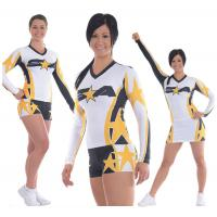 Wholesale Keeps Shape Cheerleading Sportswear Plane Embroidery from china suppliers