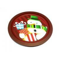 Wholesale Metal Tinplate Tin Serving Trays Of Painting Cartoon / Metal Saucer from china suppliers