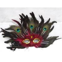 Wholesale Mluti Color Masquerade Carnival Peacock Feather Party Half Face Mask from china suppliers
