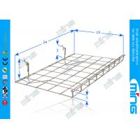 Wholesale Customized Metal Mesh Wire Display Baskets , Black Grid Panel Shelf from china suppliers