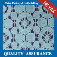Wholesale 2014 china factory wholesale new design High quality heavy jacquard cotton lace fabric for lady dresses from china suppliers