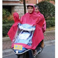 Wholesale Electric motorcar bicycle bike double single person Conjoined raincoat man woman Electrombile Rainwear wholesale from china suppliers