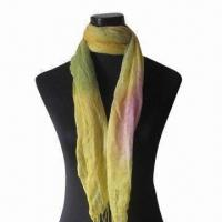 Wholesale Promotional long scarf, made of 55% viscose and 45% acrylic, various colors are available from china suppliers