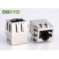Wholesale 90 degree 10 / 100 Base -TX RJ45 jack Integrated Magnetics ethernet connector from china suppliers