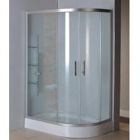 Wholesale Complete shower units with virgin ABS tray satin silver aluminum alloy #6463 frame from china suppliers