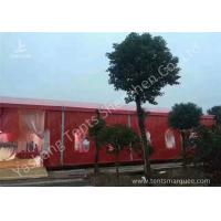 Wholesale Popular Red Color 20m Width Luxury Wedding Party Tent Marquee with Top and Wall Curtains from china suppliers