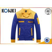 Wholesale Formal Worker Custom Jackets Blue And Yellow Uniform Fashion Tops from china suppliers