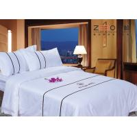 Wholesale Comfortable 3cm Satin Stripe Design Hotel Bed Linen Queen Size 400TC from china suppliers