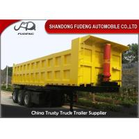 Wholesale Three / Double Axle Heavy Duty Dump Trailers , Steel Frame Tipper Semi Trailer  from china suppliers