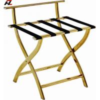 Wholesale Stainless Steel High Back Luggage Stand-Gold Electroplated Luggage Stands from china suppliers