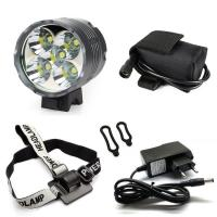 Wholesale 4x18650 Lithium Battery Pack Powered 7000Lms 5X T6 CREE XML Headlamp Bike Lamp Light from china suppliers