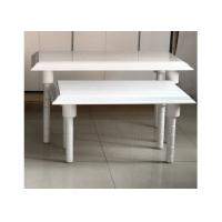 Wholesale White Nesting Display Tables Fashion Style1200 * 600 * 800MM  For Clothing Shop from china suppliers
