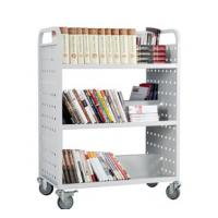 China Three Layers Double-Sided book cart, Japan library carts for sale, double sided book cart RCA-3D-LIB15 on sale