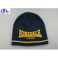 Wholesale Women's Knitted Beanie Hats / Caps With Front Custom Printed Logo SGS / UL from china suppliers