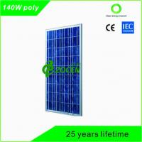 Buy cheap 140 Watt PV Polycrystalline Solar Panels with 25 Years Lifetime TUV Certified from wholesalers
