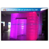 Wholesale Pink Portable Inflatable Photo Booth Enclosure LED lighting 16 Colors from china suppliers
