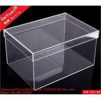Wholesale DY101 Acrylic Shoe Box Shoes Container Shiny Smooth Strong Tough from china suppliers