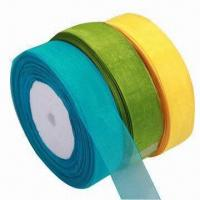 Wholesale Gift Organza Ribbon, Suitable for Garment and Gift Packing, OEM Orders are Accepted from china suppliers