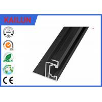 Wholesale Solar Panel Black Aluminium Frame With Corner Key , Extrusion Aluminium Edge Profile For PV Mounting Systems from china suppliers