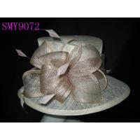 Wholesale Summer Medium Sinamay Ladies Fashion Hats Oval Crown with Folded from china suppliers