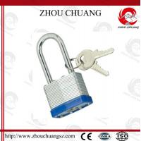 Wholesale High Sercurity, CE Certificated Security  Plating Long steel Shackle Laminated Padlock from china suppliers