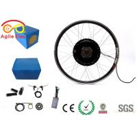Wholesale 1000W Electric Bike Wheel Motor Kit With Blue Naked Lithium Battery from china suppliers