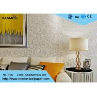 Wholesale Eco - Friendly Silver Leaf Pattern Modern Removable Wallpaper for TV Background from china suppliers