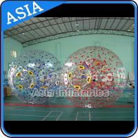 Wholesale 1.0mm PVC Used Land Zorbing Ball, Grass Zorb Ball With Color Strips from china suppliers