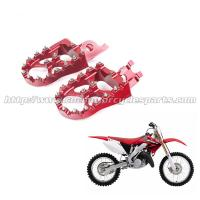 Wholesale Honda Aluminum Alloy Wide Dirt Bike Foot Pegs With Stainless Steel Sharp Teeth from china suppliers