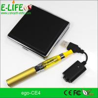 Wholesale eGo CE4 Single Starter Kits with metal box package potable electronic cigarette from china suppliers